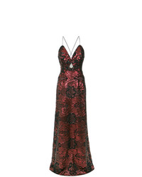 Tufi Duek Sequin Embroidered Gown