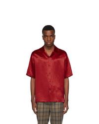 Gucci Red Satin Snake Skull Shirt