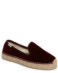 Soludos Velvet Smoking Slipper Espadrille