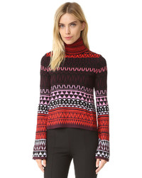 Burgundy Fair Isle Turtleneck