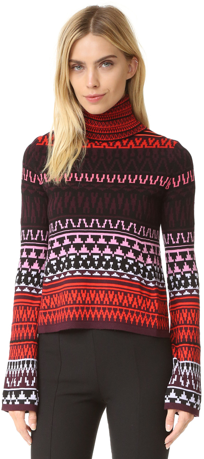 MCQ Alexander Ueen Fair Isle Turtleneck Sweater | Where to buy ...