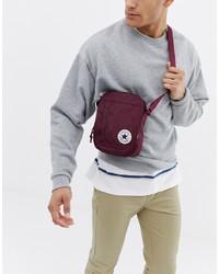 Converse Chuck Taylor Patch Crossbody Bag In Burgundy