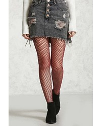 Forever 21 Sheer Fishnet Tights