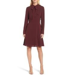 Crepe bow fit flare dress medium 5262383