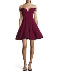 XSCAPE Double Strap Off The Shoulder Party Dress