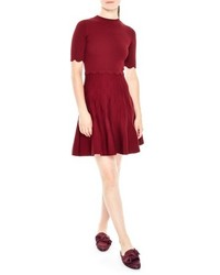 Fit flare knit dress medium 5260037