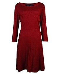 d0b7c11a2e3 ... French Connection Sydney Knits Solid Fit And Flare Dress