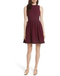 Kate Spade New York Ruffle Trim Fit Flare Dress