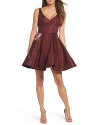 XSCAPE Shimmer Fit Flare Dress