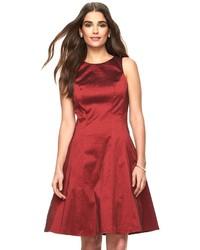 Ronni Nicole Taffeta Fit Flare Dress