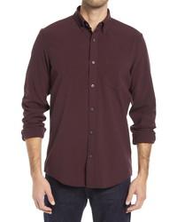Nordstrom Men's Shop Fit Solid Flannel Shirt