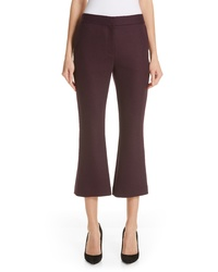 Adam Lippes Double Face Crop Flare Pants