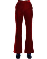 Facetasm Flared Velvet Pants