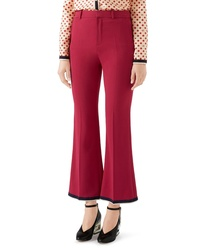 Gucci Stretch Cady Crop Bootcut Pants