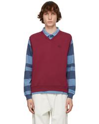 Stussy Burgundy Fleece Vest