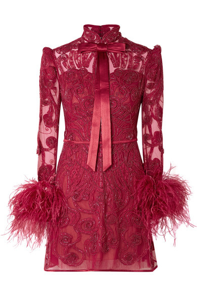 Zuhair Murad Belle Epoque Med Embellished Lace And Tulle Mini Dress