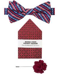Van Heusen 3 Pc Multi Gingham Bow Tie Set