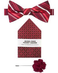 Van Heusen 3 Pc Textured Stripe Bow Tie Set