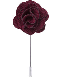 T.M.Lewin Burgundy Textured Lapel Pin