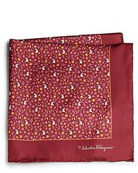 Salvatore Ferragamo Ramage Floral Silk Pocket Square