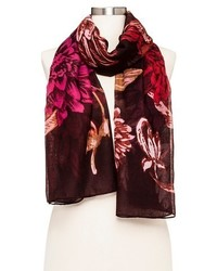 Merona Scarf Red Floral
