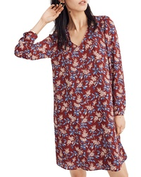 Madewell Antique Flora Button Back Dress