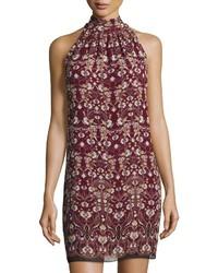 Max Studio Floral Printed Sleeveless Shift Dress