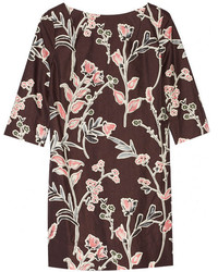 Marni Printed Cotton And Silk Blend Mini Dress