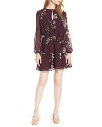 BB Dakota Winter Rose Chiffon Dress