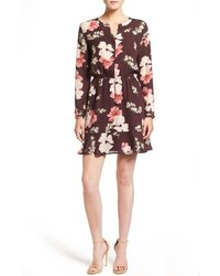 Cupcakes And Cashmere Gable Floral Print Shirtdress Dress