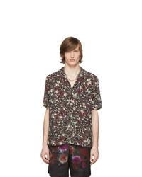 Dries Van Noten Burgundy Floral Carltone Shirt