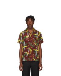 Wacko Maria Burgundy Type 1 Hawaiian Shirt