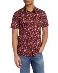John Varvatos Star USA Jasper Regular Fit Floral Button Up Shirt