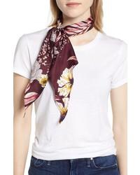 halogenr Halogen Floral Print Silk Kite Scarf