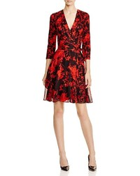 Irina floral silk wrap dress medium 341802