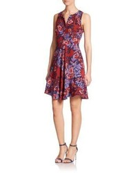 Rebecca Taylor Silk Floral Print Sleeveless Dress
