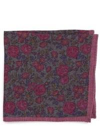 London moody floral wool pocket square medium 951046