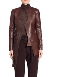 Akris Masai Braided Flo Leather Jacket