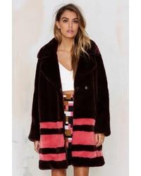 American Retro Auda Faux Fur Coat