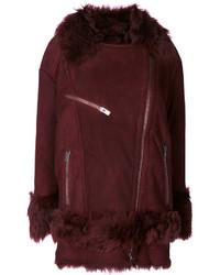 Furry trim coat medium 4395392