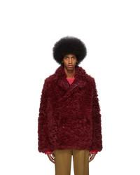 Sies Marjan Reversible Burgundy Shearling Emery Coat