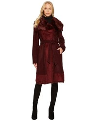Wool coat with faux shearling and faux fur detail n1231 coat medium 5362771