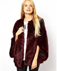 Asos Faux Fur Batwing Coat