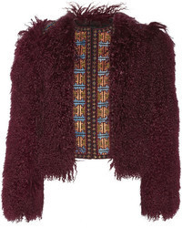 Etro Embroidered Wool Blend And Shearling Jacket