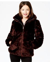 Jones New York Hooded Faux Fur Coat