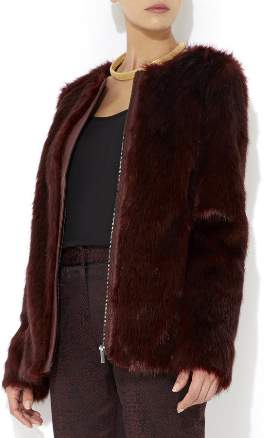 Wallis Berry Collarless Faux Fur Coat Where To Buy Amp How
