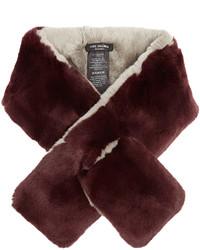 Yves Salomon Bi Colour Rabbit Fur Scarf