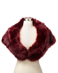 Faux Fur Stole Wrap With Satin Lining Tevolio