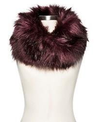 Merona Fur Snood Burgundy Tm One Size