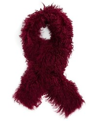 Toria rose genuine mongolian lamb fur scarf medium 1037111
